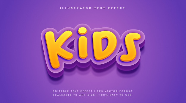 子供たちの楽しい遊び心のあるテキストスタイルのフォント効果