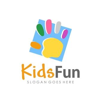 Kids Fun Preschool And Children Logo Template Design