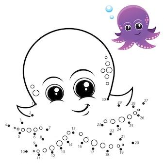 Детская игра точка в точку осьминог