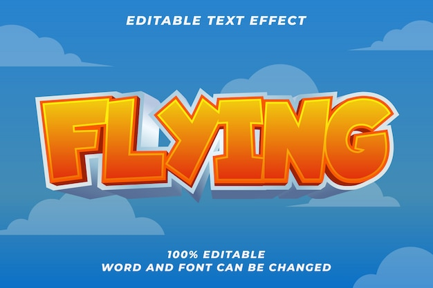 Kids game text style effect