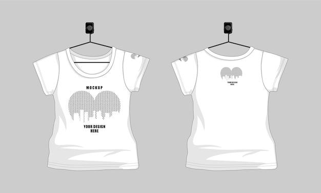 子供の女の子のtシャツテンプレート