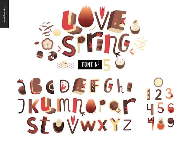 Kids  gradient alphabet set