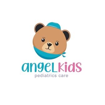 Kids health logo design template