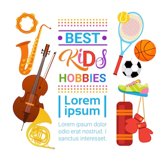 Kids hobbies art classes logo