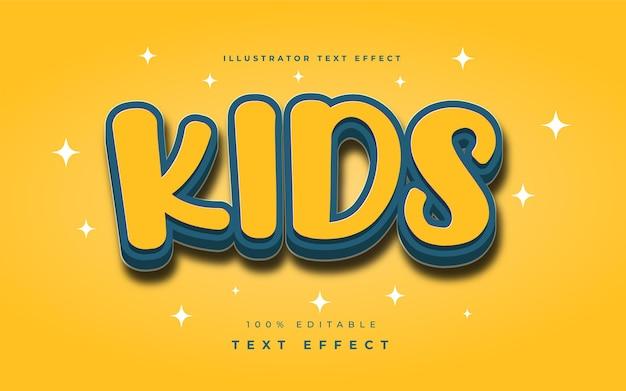 Kids illustrator text effect
