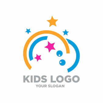 Kids logo stock illustration