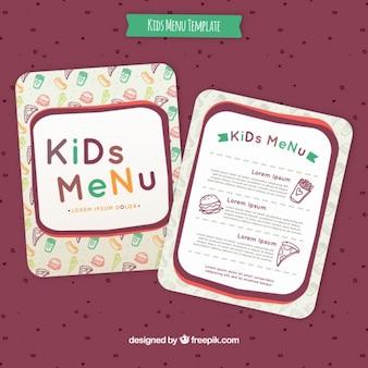 Design menu per bambini