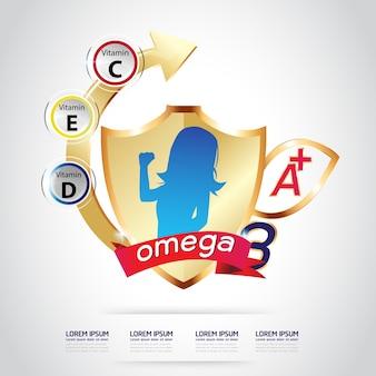 Логотип kids omega 3