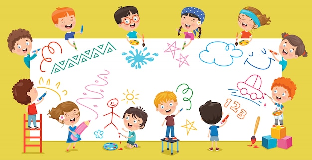 Kids painting banner