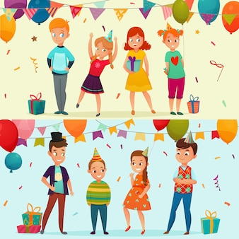 Kids party banner set