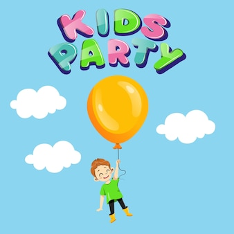Kids party, children holiday invitation concept.
