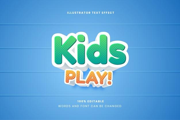 Kids play редактируемый текстовый эффект
