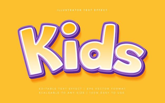 Детский игривый текстовый эффект шрифта