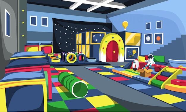 Kids playground space theme