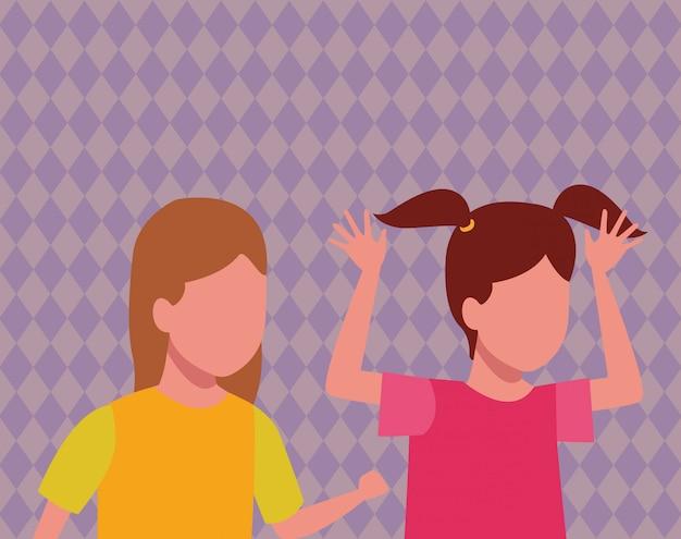 Kids playing cartoons