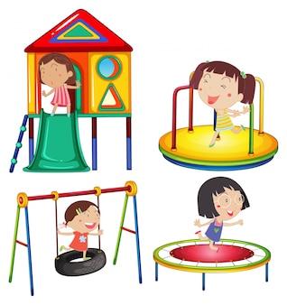 プレイステーションで遊んでいる子供たち