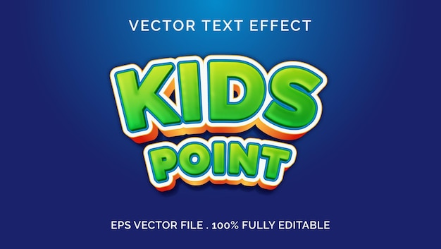 Kids point editable text effect style