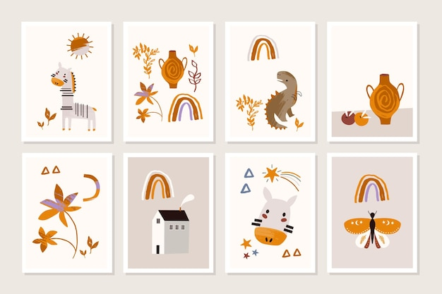 Kids poster with animals