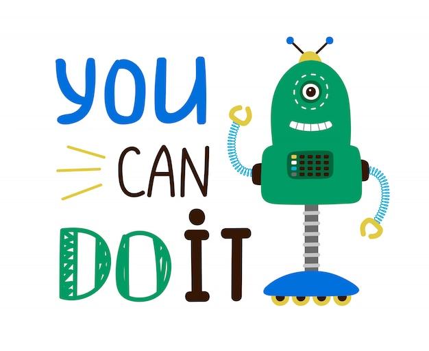Kids robot illustration