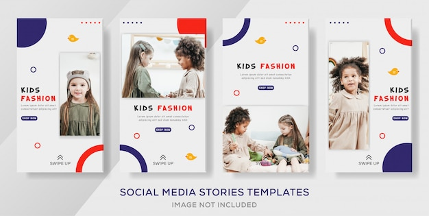 Kids sale banner template premium