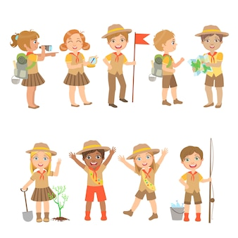 Kids scouts camping set