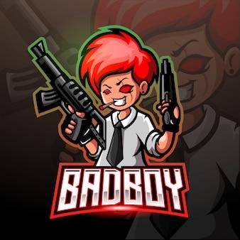 Детский шутер киберспорт игровой логотип дизайн