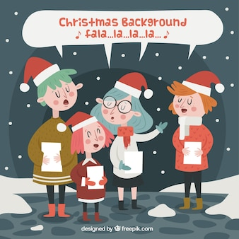 Kids singing a christmas carol