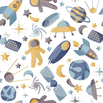 Kids space background.