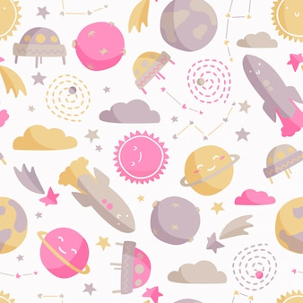 Kids space pattern