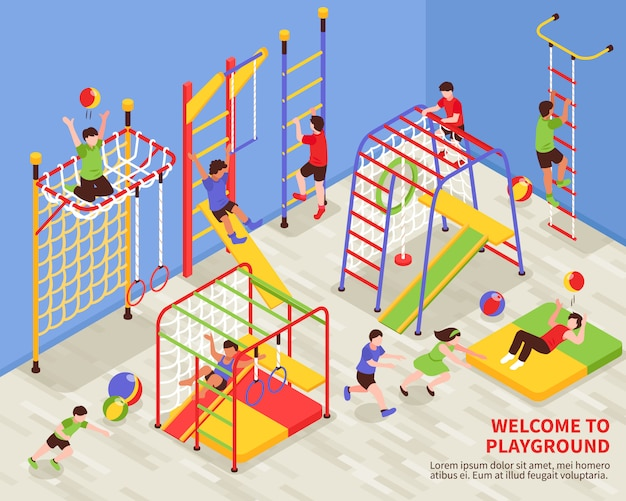Kids sports playground background