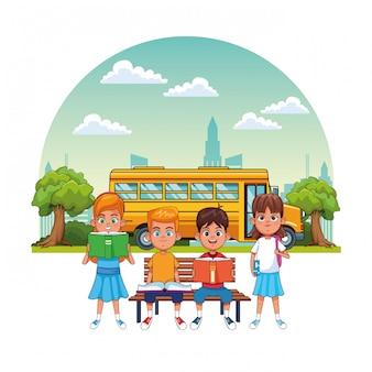 Kids students in school