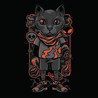 キッズスタイルの猫の品種イラスト