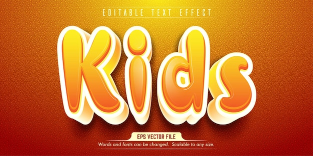 Kids style editable text effect