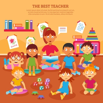 Kids teacher poster
