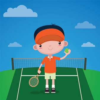 Kids tennis player