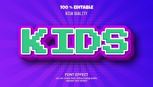 키즈 텍스트 효과, 편집 가능한 글꼴