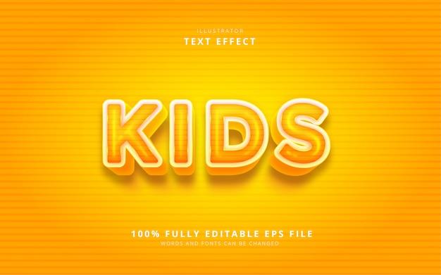 Kids text effect