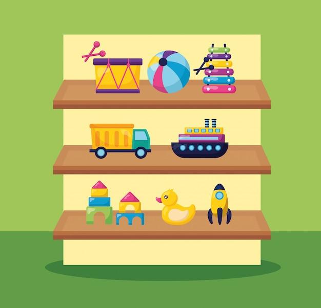 Kids toys illustration