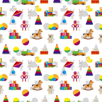 Kids toys seamless pattern
