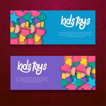 Kids toys vector background template