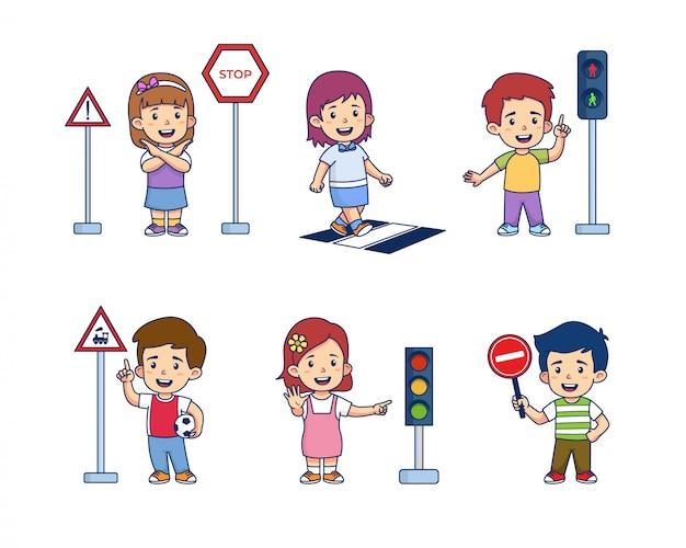 Kids traffic light education
