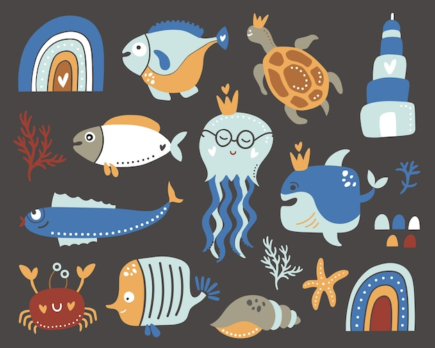 Коллекция kids under the sea