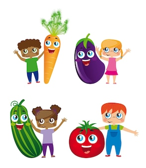 Kids and vegetables
