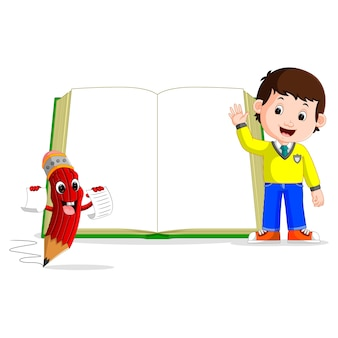 Kids with a big book