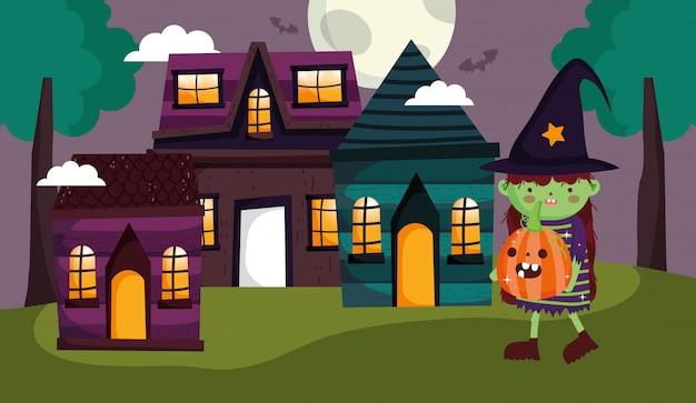 Дети с костюмом хэллоуин