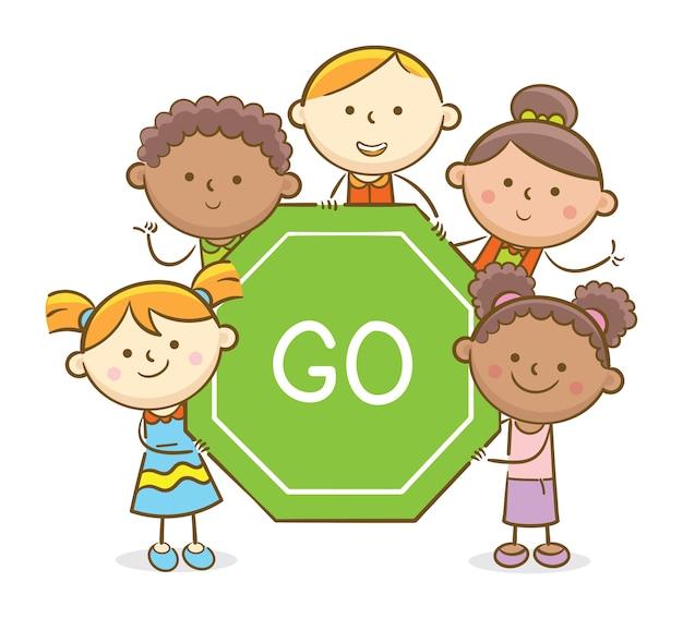 Дети с знаком go go