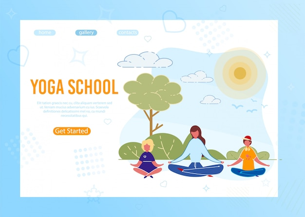 Kids yoga outdoor classes lesson outdoor in park website