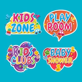 Kids zone, kids room design template.