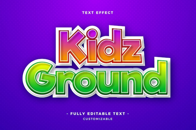 Kidz ground text effect