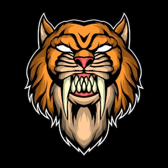 Killer leopard illustration